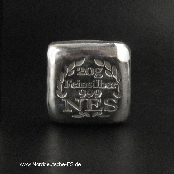 Silberbarren 20g-Feinsilber 9999-NES