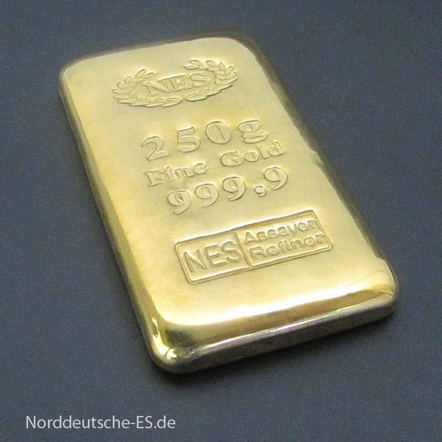 250g-Goldbarren-Feingold 9999-NES