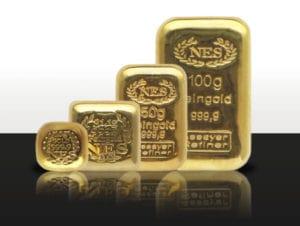Barrenserie-10-100g-Goldbarren-9999-NES