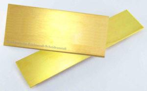 Goldblech-sattgelb