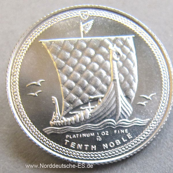 Platinmünze-9995 Isle-of-Man-A-Tenth-Noble-1_10oz-Wikinger