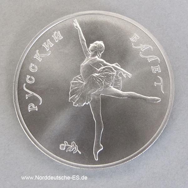 Palladiummünze Russland-1-unzen-Ballerina-25-Rubel-1991