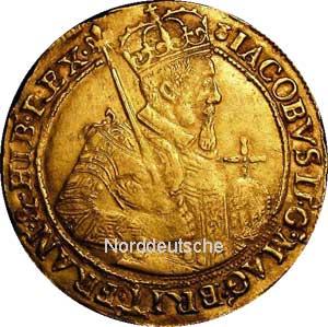 Sehr seltene Sammlermünze Schottische-Goldmuenze-JamesVI