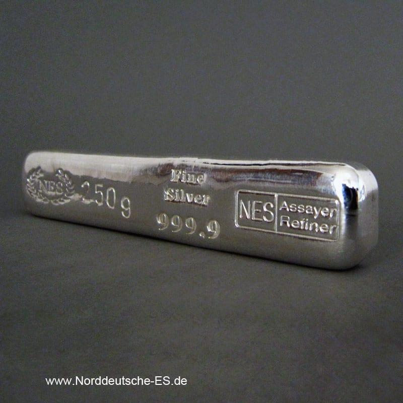 Silberbarren-250g Feinsilber 9999-NES JUB.