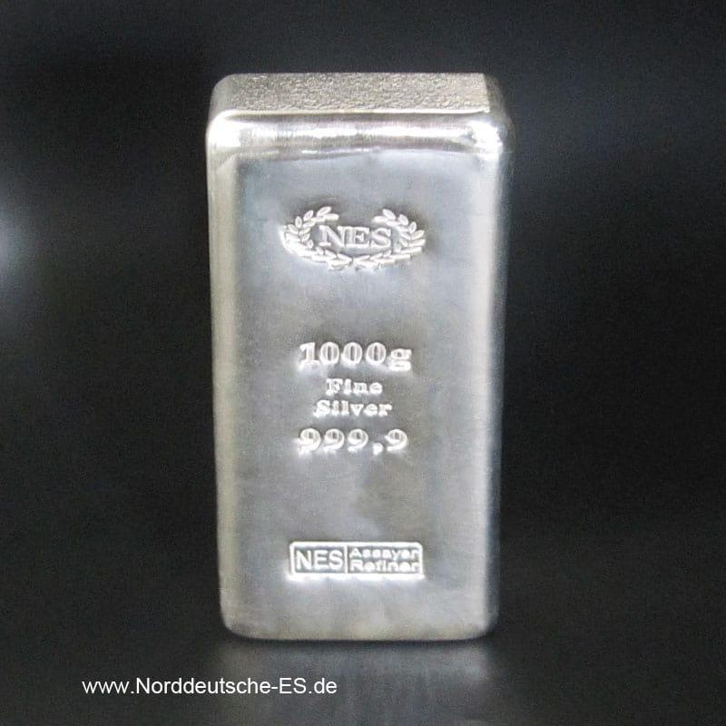 Silberbarren-1000g Feinsilber 9999 NES