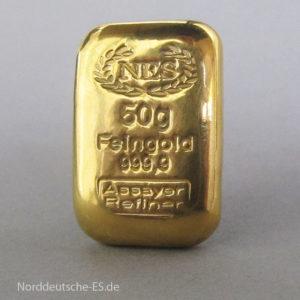 50g Goldbarren Feingold 9999-NES