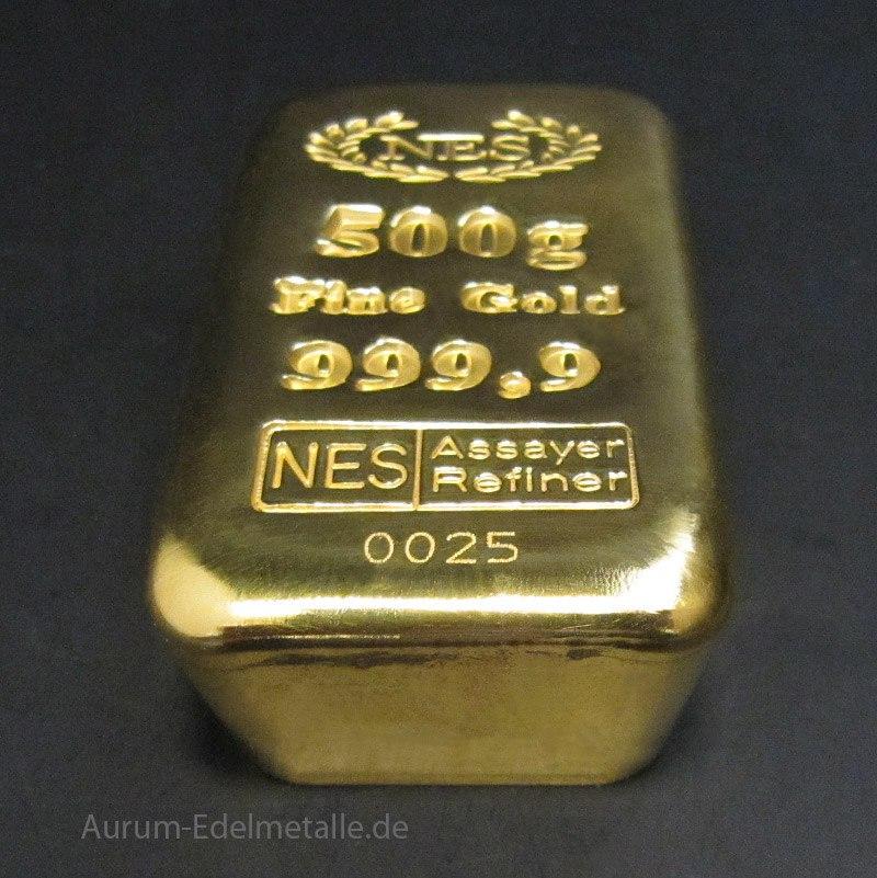 Goldbarren 500g NES
