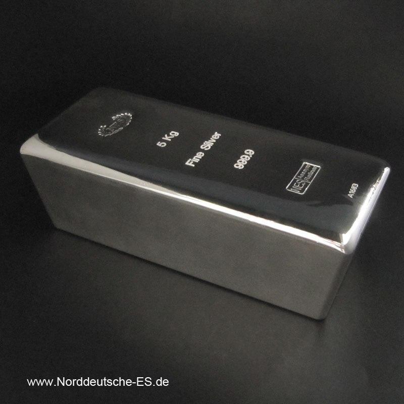 Silberbarren-5Kg-Feinsilber-9999-Norddeutsche-Bild1